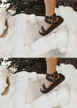 Load image into Gallery viewer, Burt Sandal Black