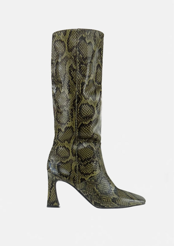 Candy Boot Green Python